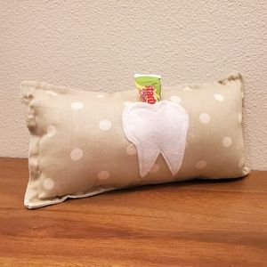 [Custom] ToothFairy Pillow Green Dot Tooth Pocket